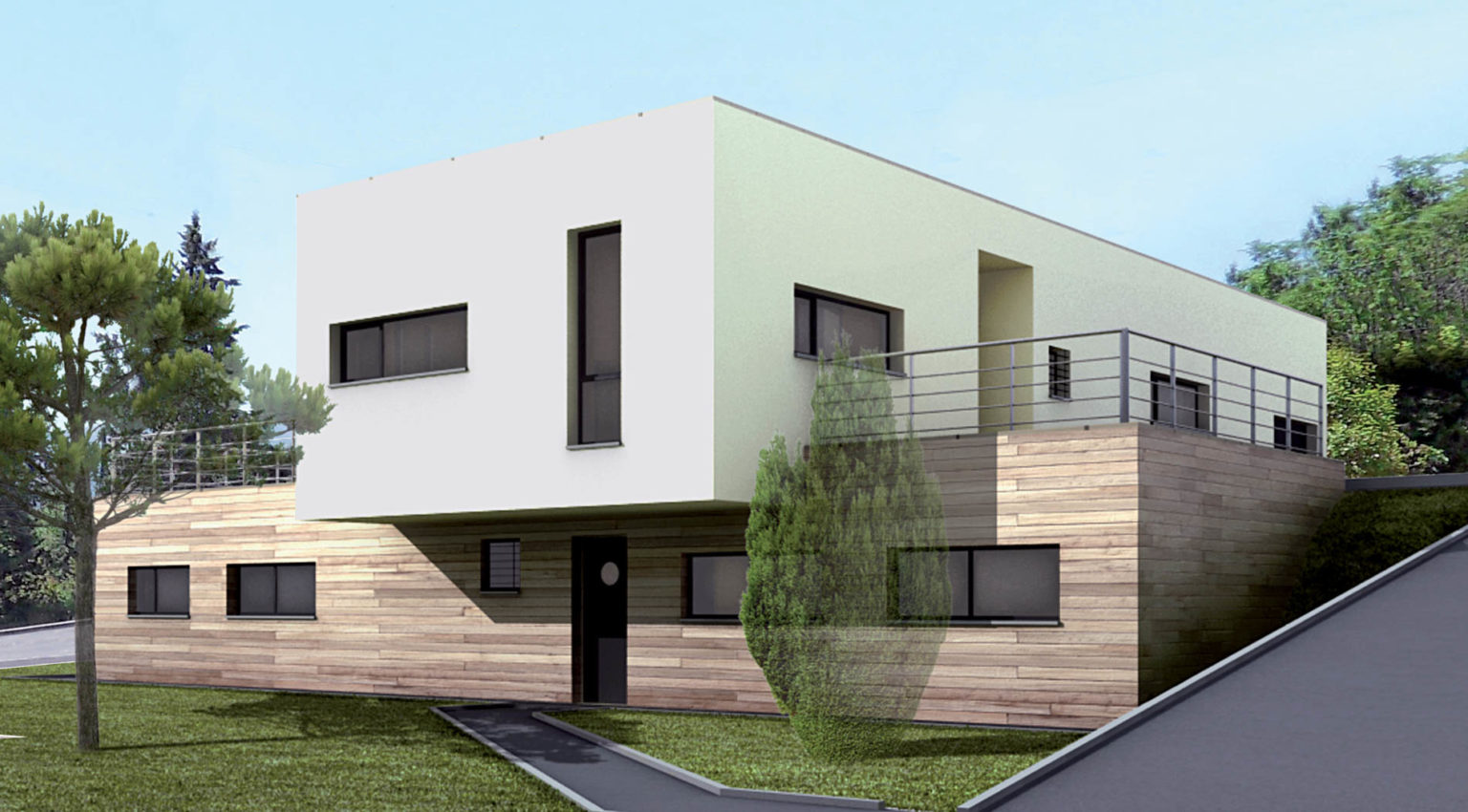 villa-contemporaine-suspendue-4